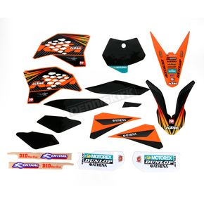 N-Style Black 12 Factory KTM Race Team Graphics Kit w/Seat Cover - N40-5647