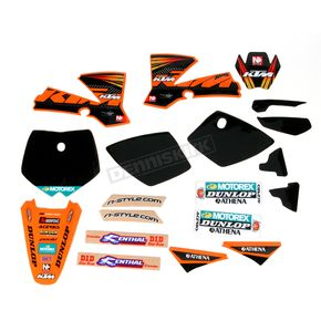 N-Style Black 12 Factory KTM Race Team Graphics Kit w/Seat Cover - N405648