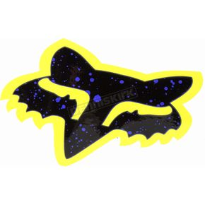 Fox Purple/Yellow 4 in. Splatter Sticker - 14899-178-OS