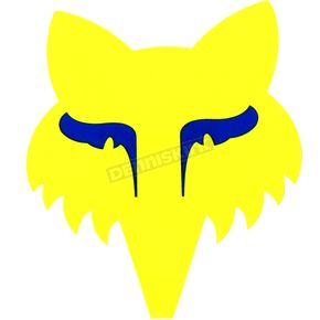 Fox Fluorescent Yellow Legacy Head Sticker - 14906-130-OS