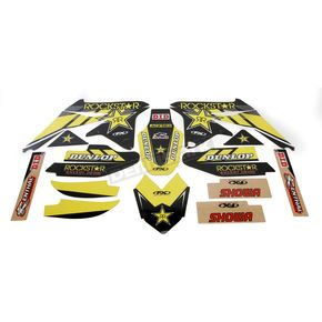 Factory Effex Yellow Suzuki Rockstar Energy Shroud and Complete Graphics Kit - 19-07430