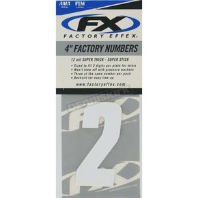 Factory Effex Factory 4 in. Numbers - #2 - FX08-90012