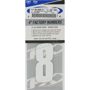 Factory Effex Factory 4 in. Numbers - #8 - FX08-90018