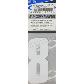 Factory Effex Factory 6 in. Numbers - #8 - FX08-90058