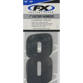Factory Effex Factory 7 in. Numbers - #8 - FX08-90088