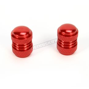 Factory Effex Red Valve Cap Kit - 15-36013