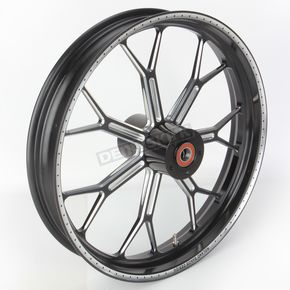 Roland Sands Design 21 in. x 3.5 in. Front Contrast Cut Ops Delmar One-Piece Aluminum Wheel for Models w/ ABS - 12047106RDELSBM