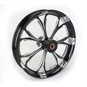 Performance Machine Front Platinum Cut 21 x 3.5 Paramount One-Piece Chrome-Forged Aluminum Wheel - 12027106PARJBMP