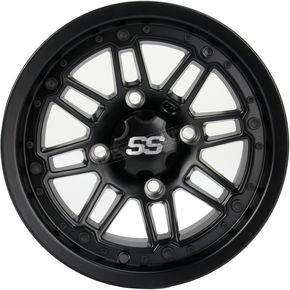 ITP Matte Black 12 in. X 7 in. SS216 Alloy Black Ops Wheel - 1228539536B