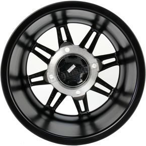 ITP Matte Black 14 in. X 7 in. SS216 Alloy Black Ops Wheel - 1428543536B