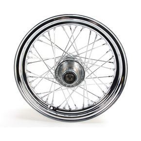 V-Factor Chrome 16x3.00 40 Spoke Front Wheel - 51643