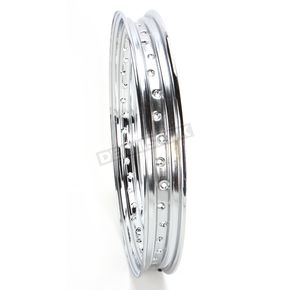 Chrome 21 x 2.15 40-Spoke Custom Spun Steel Rim - 0210-0019