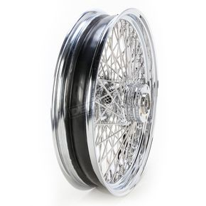 Drag Specialties Chrome 18 x 3.5 80-Spoke Laced Wheel Assembly - 0204-0055