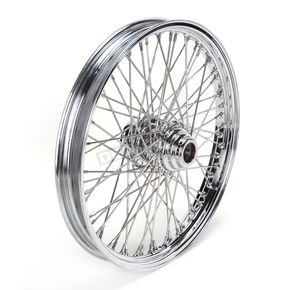 Drag Specialties Chrome 21 x 2.15 60-Spoke Laced Wheel Assembly for Single Disc - 0203-0085