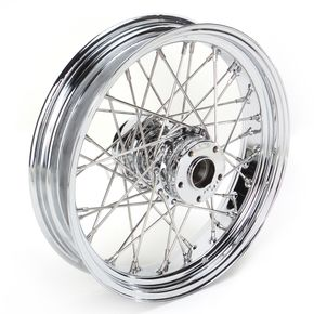 Drag Specialties Chrome 18 x 5.5 40-Spoke Laced Wheel Assembly - 02040342