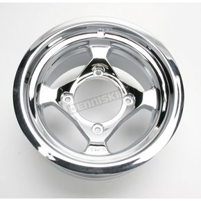 AMS Chrome Large Bell Cast Aluminum Utility ATV Wheel - 02300037