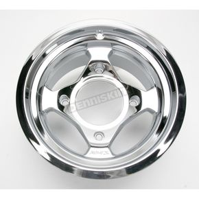 AMS Chrome Large Bell Cast Aluminum Utility ATV Wheel - 02300043