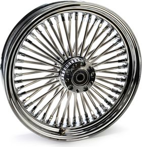 Chrome 16 x 3.5 Fat Daddy 50-Spoke Radially Laced Wheel