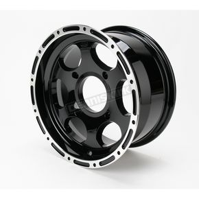 ITP 14 in. Black Large Bell Cast C-Series Type 7 Aluminum Wheel - 1428142536B