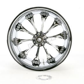 Performance Machine Chrome 18 x 10.5 Custom Hooligan Wheel for 1 in. Axle - 1274-7834R-HOO1