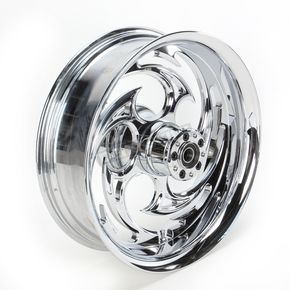 RC Components Chrome 18 x 5.5 Savage One-Piece Wheel for OEM Pulley w/o ABS - 18550-9210-85C