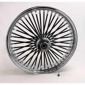 Drag Specialties Black 21 x 3.5 Fat Daddy 50-Spoke Radially Laced Wheel for Dual Discs - 0203-0355