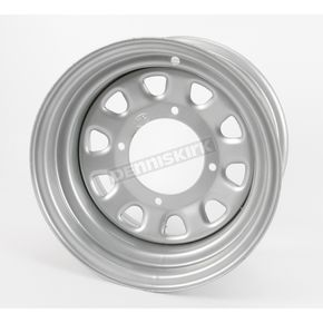 ITP Large Bell Delta Silver Steel Wheel - 1225573032