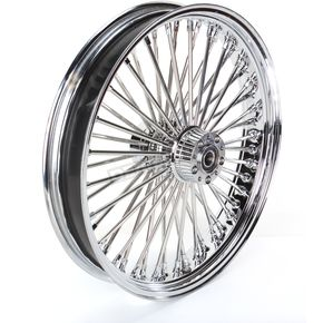 Drag Specialties Chrome 21 x 3.5 Fat Daddy 50-Spoke Radially Laced Wheel for Dual Disc - 02030385