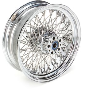 Drag Specialties Chrome 16 x 5.5 80-Spoke Laced Wheel Assembly - 02040341