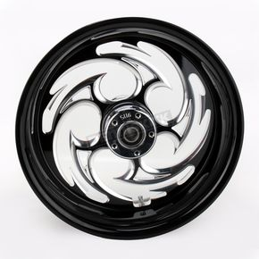 RC Components Black 17 x 6.25 Savage Eclipse One-Piece Wheel - 17625-9209-85E
