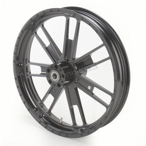 Roland Sands Design 21 in. x 3.5 in. Slam One-Piece Black Ops Aluminum Wheel - 12047106RSLMSMB