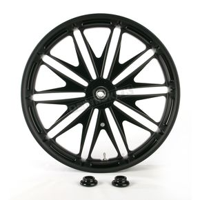 Roland Sands Design 23 in. x 3.5 in. Boss One-Piece Black Ops Aluminum Wheel for Models w/o ABS - 12027306RBSSSMB
