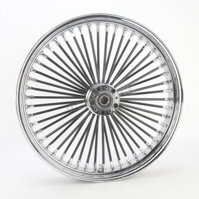 Drag Specialties Black 21 x 3.5 Fat Daddy 50-Spoke Radially Laced Wheel for Dual Disc - 0203-0402