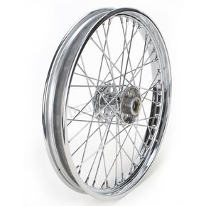 Drag Specialties Chrome Front 21 x 2.15 40-Spoke Laced Wheel Assembly  - 0203-0417