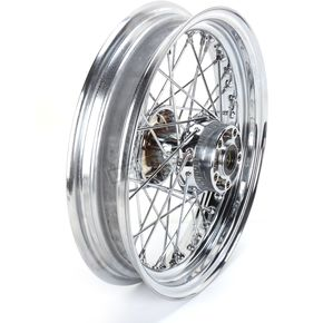 Chrome Rear 16 x 3.5 40-Spoke Laced Wheel Assembly - 0204-0372