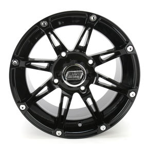 Moose Gloss Black Type 387X Wheel - 0230-0469