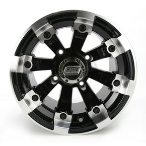 Moose Black 393X Cast Aluminum ATV/UTV Wheel - 0230-0520