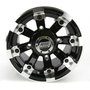 Moose Black 393X Cast Aluminum ATV/UTV Wheel - 0230-0522