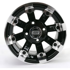 Black 393X Cast Aluminum ATV/UTV Wheel - 0230-0524
