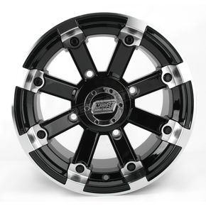 Moose Black 393X Cast Aluminum ATV/UTV Wheel - 0230-0525