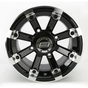 Moose Black 393X Cast Aluminum ATV/UTV Wheel - 0230-0530