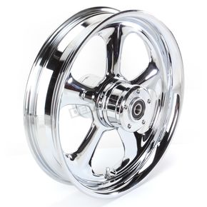 RC Components Rear 16 in. x 3.5 in. Nitro One-Piece Forged Aluminum Chrome Wheel - 16350-9970-92C