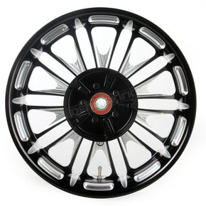 Roland Sands Design 16 in. x 5 in. Boss One-Piece Contrast-Cut Aluminum Wheel for Models w/ABS - 12697612RBSSBM