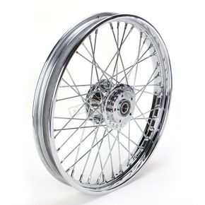 Front Chrome 21x2.15 40-Spoke Laced Wheel Assembly - 0203-0533