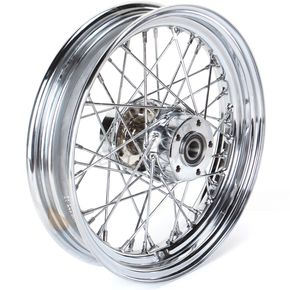 Rear Chrome 16x3 40-Spoke Laced Wheel Assembly - 0204-0424