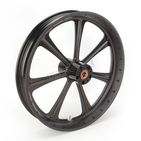Roland Sands Design 23 in. x 3.5 in. Diesel One-Piece Black Ops Aluminum Wheel for Models w/o ABS - 12027306RDIESMB