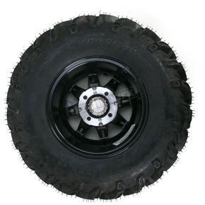 Moose Gloss Black 387X Tire/Wheel Kit - 0331-1163