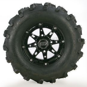 Moose Gloss Black 387X Tire/Wheel Kit - 0331-1170