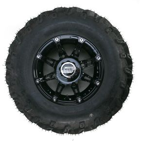 Moose Gloss Black 387X Tire/Wheel Kit - 0331-1172