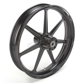 Roland Sands Design 21 in. x 3.5 in. Morris One-Piece Black Ops Aluminum Wheel for Models w/ ABS - 12047106RMRSSMB